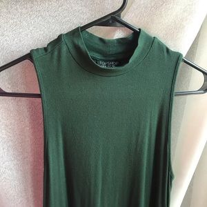 Green, sleeveless, T-shirt dress, size 4